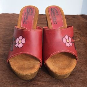 SBICCA Vintage Collection Flower Wedges